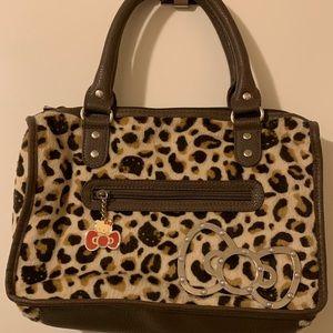 Leopard print hello Kitty hand bag